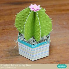 It's Kathy today with a tutorial showing how to assemble Lori's new Cactus and Succulents! I was so excited to see these in the shop, finally plants even I can't kill! I couldn't de. 3d Paper, Paper Crafts, Paper Succulents, Easy Homemade Gifts, Creative Kids, Paper Flowers, Floral Arrangements, Projects To Try, Card Making