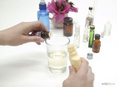 Blending com óleos essenciais.