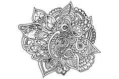 mandala art online coloring art for adults vector png Page 1 Free Online Coloring, Art Online, Mandala Art, Vector File, Zentangle, Internet Art, Zentangle Patterns, Zentangles