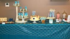 Our guests had plenty of choices with our incredible undersea sweets table styled by B. Lee Events!