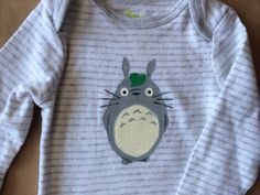 Totoro baby clothes! Hand painted on etsy for $12