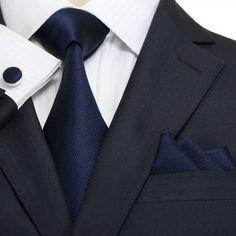 Navy Blue Wedding Tie Set JPMA51 – Toramon Necktie Company