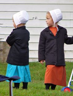 Amish Children at the Quilt Auction in Bonduel, Wisconsin~ Sarah's Country Kitchen ~
