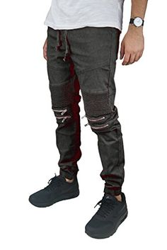 44950f82131 Victorious Mens Biker Jogger Pants with Zipper Victorious  https   www.amazon.