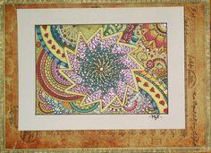 Catherine wheel MyTangle™ - Girandola MyTangle™ | #zentangle #tangle #doodle #myart #colors #glitter
