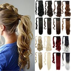 Days Delivery Wrap Around Synthetic Ponytail Clip in Hair Extensions One  Piece Magic Paste Pony Tail Long Wavy Curly Soft Silky for Women Fashion  and Beauty ba904af5e2