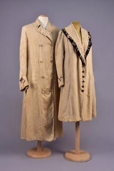 LADYS SUMMER COAT and MANS DUSTER, EARLY 20th C.