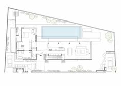 LB House / Shachar- Rozenfeld architects, Floor Plan-G Villa Design, House Design, Villa Plan, Layouts Casa, House Layouts, Modern House Plans, House Floor Plans, Architecture Plan, Interior Architecture