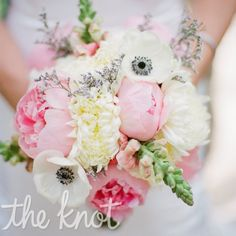 White and pink bouquet // Emily Steffen Photography