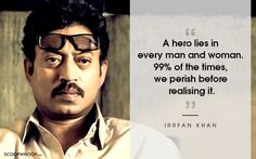 12 Poignant Things Irrfan Khan Said That Explain Why He's An Actor First & A Star Later Hindi Quotes, Words Quotes, Best Quotes, Life Quotes, Sayings, Star Quotes, Bollywood Images, Bollywood Quotes, Bollywood Actors