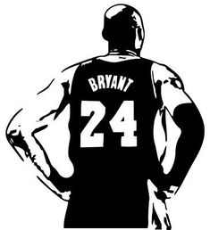 Kobe Bryant Lakers, Kobe Bryant 24, Kobe Bryant Tattoos, Kobe Logo, Kobe Bryant Pictures, Kobe Bryant Black Mamba, Vinyl Storage, Silhouette Art, Basketball Tattoos