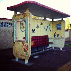 bus shelters in East Freo via a Little Piece of Pie
