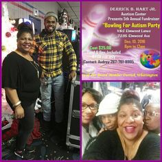 So excited about having fun with my cousins [ Adrienne Ak-One Kemp , Taneshia Tee Glover, Cheryl Kemp, Joe Rice, Jeff, Carl & more] as we supported a great friend Audrey L. Northington's charity for Autism! AND Happy Birthday James Jr Glover! We don't look like what we've been through! We bowled & danced with joy! Shout out to MidAtlantic FX! #laughter is #good for the #soul