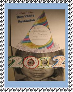 Free Bulletin Board Kit for the New Year. Includes cut and color glasses for 2012 through  2019