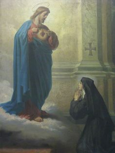 Saint of the Day – 16 October – St Margaret Mary Alacoque (1647-1690) V.H.M. Virgin, Nun, Mystic, Saint and Apostle of the Sacred Heart.  Born Marguerite-Marie Alacoque on 22 July 1647 at L'Hautecourt, Burgundy, France – 17 October 1690 of natural causes.   Patronages against polio, against the death of parents, devotees of the Sacred Heart, polio patients.   She was Beatified on 18 September 1864 by Pope Blessed Pius ....