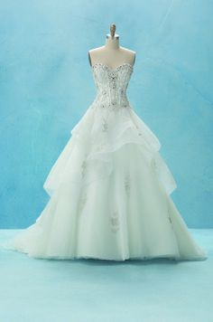 Alfred Angelo Bridal Style 217 (Belle) from Disney Fairy Tale Bridal Disney Belle Wedding, Belle Wedding Dresses, Disney Inspired Wedding, Belle Dress, Princess Wedding, Wedding Gowns, Belle Bridal, Princess Belle, Princess Gowns