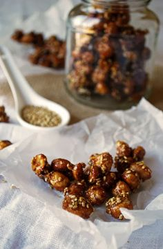 Candied Sesame Peanuts | Pass the Cocoa: Easy and delicious. Perfect as an appetizer for a party or a snack.