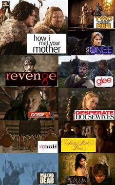 TV series as depicted in Game of Thrones