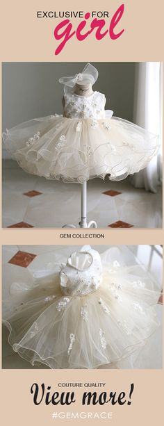 Only $108.99, Flower Girl Dresses Vintage Puffy Ballet Dance Performance Flower Girl Dress Couture High Quality #TG7032 at #GemGrace. View more special Flower Girl Dresses now? GemGrace is a solution for those who want to buy delicate gowns with affordable prices, a solution for those who have unique ideas about their gowns. High quality Little Princess collection new arrived, shop now!