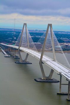 Iced-over Ravenel Bridge.....Charleston, SC January 29, 2014