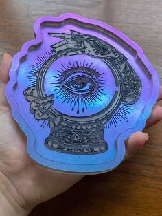 Excited to share this item from my #etsy shop: Fortuna color shift fortune teller tray #officedecor #giftideas