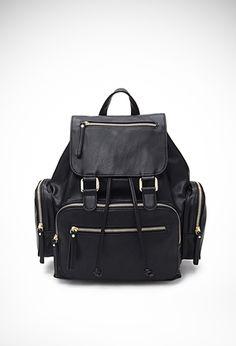 Pocket Faux Leather Backpack ($32.90) | FOREVER21 - 1000078759