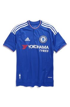 adidas 'Chelsea FC' CLIMACOOL® Home Soccer Jersey (Little Boys & Big Boys)