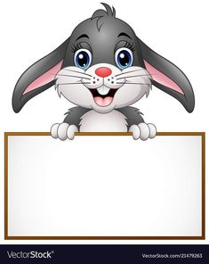 Cartoon bunny holding blank sign vector image on VectorStock Boarder Designs, Page Borders Design, Art Drawings For Kids, Drawing For Kids, Boarders And Frames, Blank Sign, Powerpoint Background Design, Kids Background, School Clipart