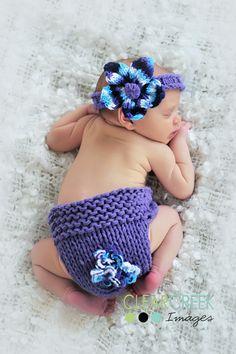 newborn/baby photography prop - headband, diaper cover, bootie set
