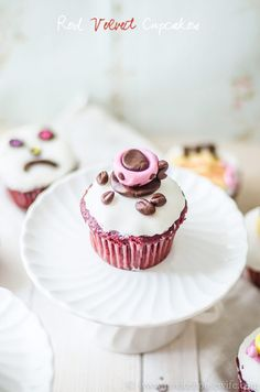 Red Velvet Cupcakes Recipe ... fluffy & moist, with a hint of chocolate.