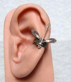 Forest Dragonfly Ear cuff