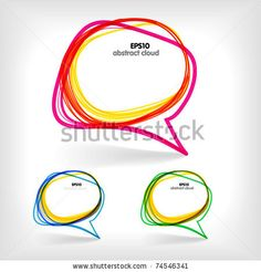 Background of abstract talking bubble by tovovan, via ShutterStock
