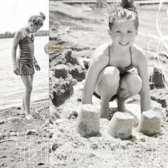 Fill your canvas with two enlarged black-and-white photos. Layout by Krista Sahlin
