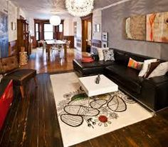 Peter Hassler - contemporary - living room - new york - by Chris A. Ikea Ps, Ikea Design, Living Room New York, Home And Living, Modern Living, Rectangular Living Rooms, Johnson House, Living Room Lighting, Room Lights