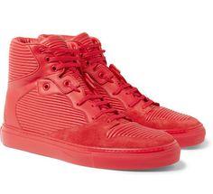 new style e9583 a19e3 Balenciaga-Red-Sneakers Balenciaga High Top, Balenciaga Sneakers,  Balenciaga Mens, Leather