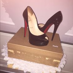 Christian Louboutin Christian Louboutin Lady peep 150 patent calf.. Blk size 7.5. Worn only twice. In very good condition! NO TRADE Christian Louboutin Shoes