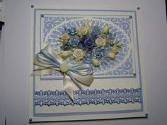 Cotswold Crafter: Caribbean Blue and Cream! Good Sunday Morning, Sue Wilson Dies, Have A Good Weekend, 3d Cards, Die Cut Cards, Lace Overlay, Doilies, Caribbean, Decorative Boxes