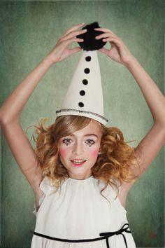 Léa P in Puppet Pierrot for Little Revolution magazine by Wanda Kujacz - dress Marie Chantal