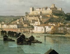 detail of the VIEW OF VERONA by B Bellotto c1745-47 at Powis Castle, Powys, Wales