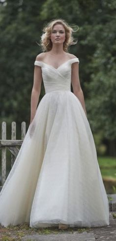 Wedding dress idea; Featured Dress: Stephanie Allin Couture