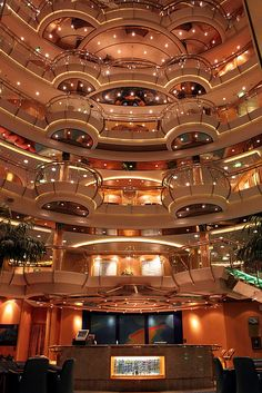 Radiance of the Seas Centrum...beautiful! I sit & just look....she is a beautiful ship!
