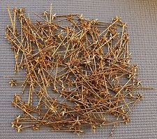 225 Gold Toned Five Pointed Star Bobby Pins - New Old Stock