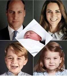 Duke and Duchess of Cambridge, Prince William and Catherine, with children . Princes George, Prince Louis, and Princess Charlotte.