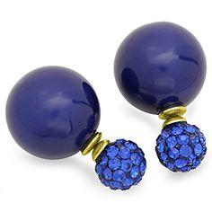 STEELTIME Fireball Pearl Earrings in Blue