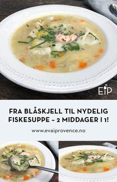 FRA BLÅSKJELL TIL NYDELIG FISKESUPPE – TO MIDDAGER I ETT! Scampi, Bon Appetit, Cheeseburger Chowder, Soup, Soups