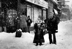 Blizzard 1979. 36 years ago today( January 14, 2015 People wear face masks to stay warm while walking through a blizzard at Foster Avenue on January 13, 1979.