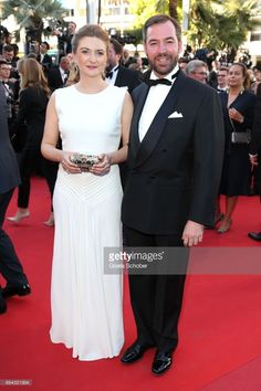 Princess Stephanie of Luxembourg and Prince Guillaume of Luxembourg attend the 'Ismael's Ghosts (Les Fantomes d'Ismael)' screening and Opening Gala during the 70th annual Cannes Film Festival at Palais des Festivals on May 17, 2017 in Cannes, France.  (Photo by Gisela Schober/Getty Images)