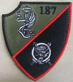 "Toppa/Patch Omerale Comandante ""2° BTG. PARACADUTISTI TARQUINIA - B.PAR.FOLGORE"""