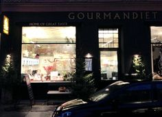 Gourmandiet, Østerbro - Copenhagen. Outstanding butcher and specialty store. Here you can find everything from the best meat cuts, wines and micro-brewed beer. Located in the district of Copenhagen. If you get past the lunch time, try a flæskestegs sandwice to-go (Danish specialty)! Are you coming on tonight's opened as a steak restaurant.