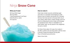 Ninja Snow Cone! Just want I need right now!